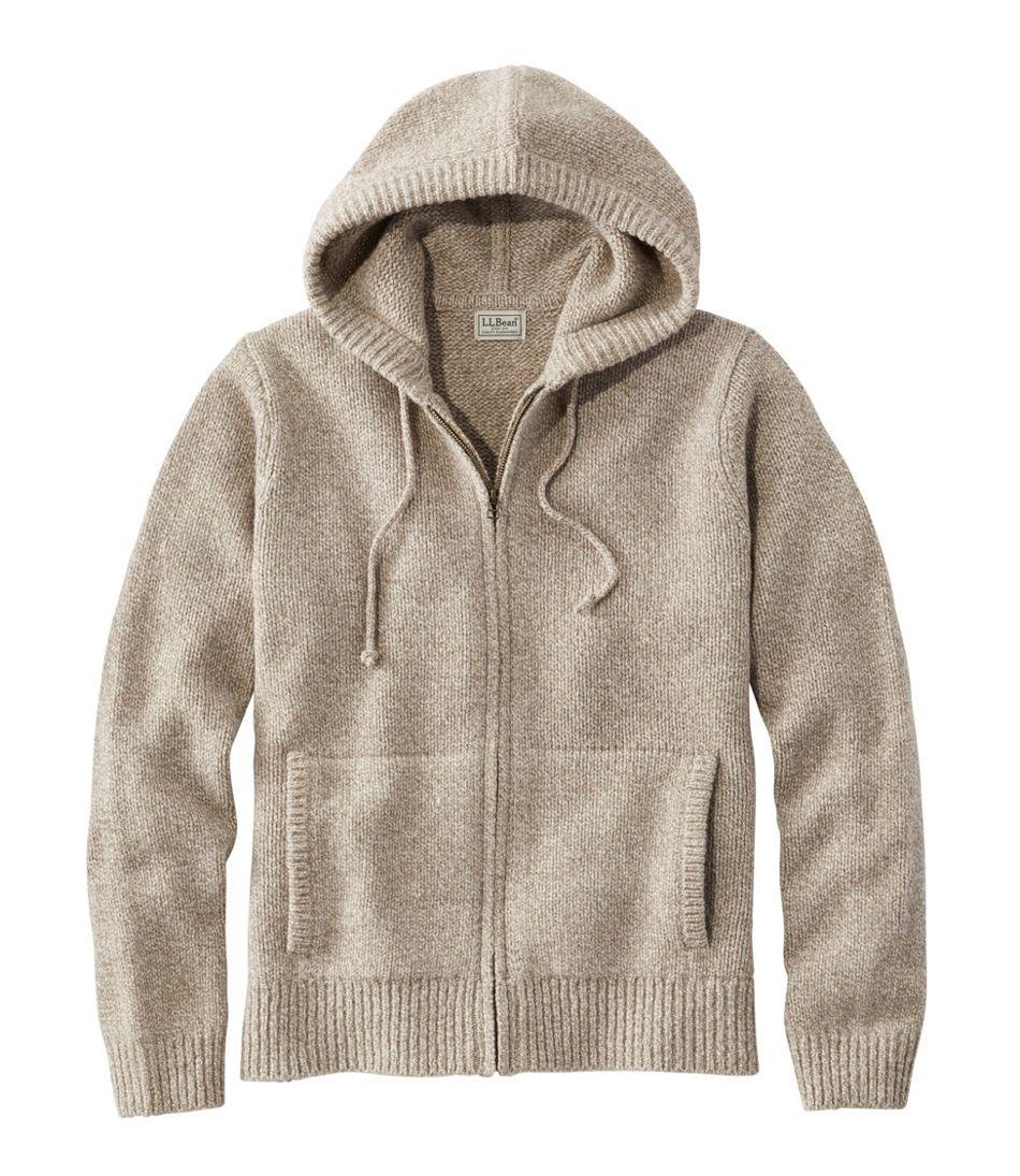 L.L.Bean Classic Ragg Wool Sweater, Zip Hoodie