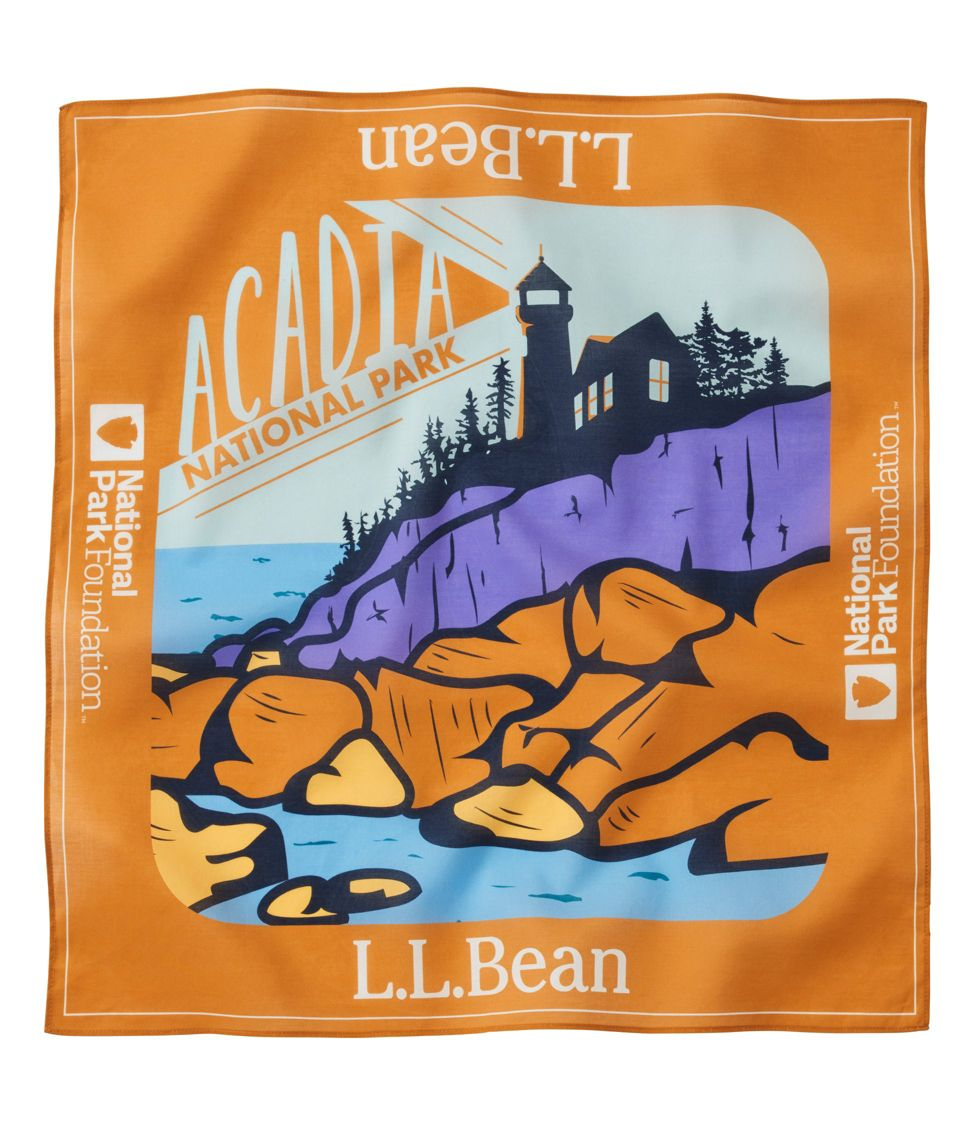 L L Bean Cotton Bandana National Park Foundation Unisex At L L Bean