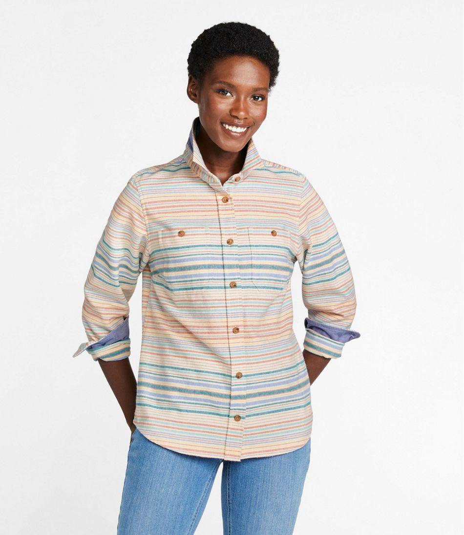 Women's Heritage Chamois Shirt, Stripe