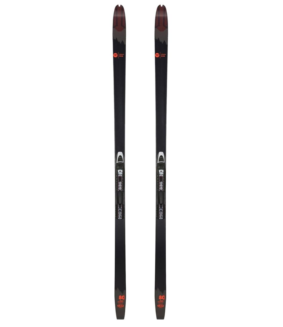 Adults' Rossignol BC 80 Skis With Mounted NNN BC Automatic Bindings
