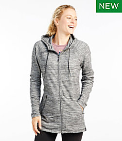 Women's Bean's Cozy Full-Zip Hooded Sweatshirt, Marled