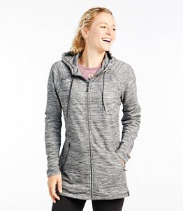 Women's L.L.Bean Cozy Full-Zip Hooded Sweatshirt, Marled
