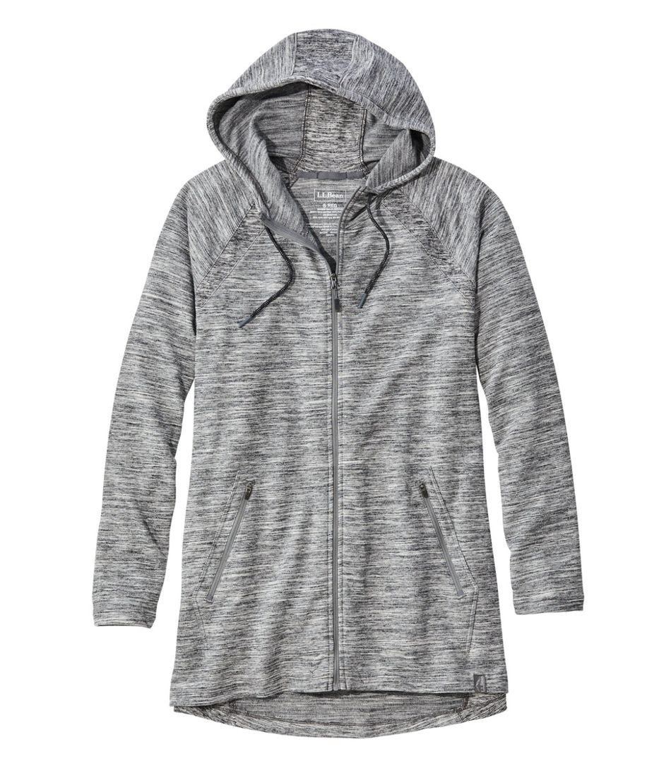 Bean's Cozy Full-Zip Hooded Sweatshirt, Marled