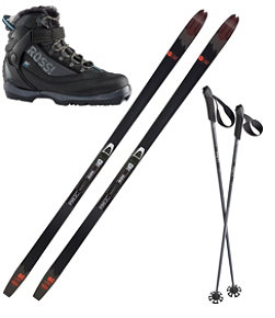 Adults' Rossignol BC 80 Mounted Ski Set with BC X5 FW Boots