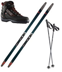 Rossignol BC 65 Mounted Ski Set with Back Country X5 Boots