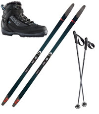 Rossignol BC 65 Mounted Ski Set with BC X5FW Boots