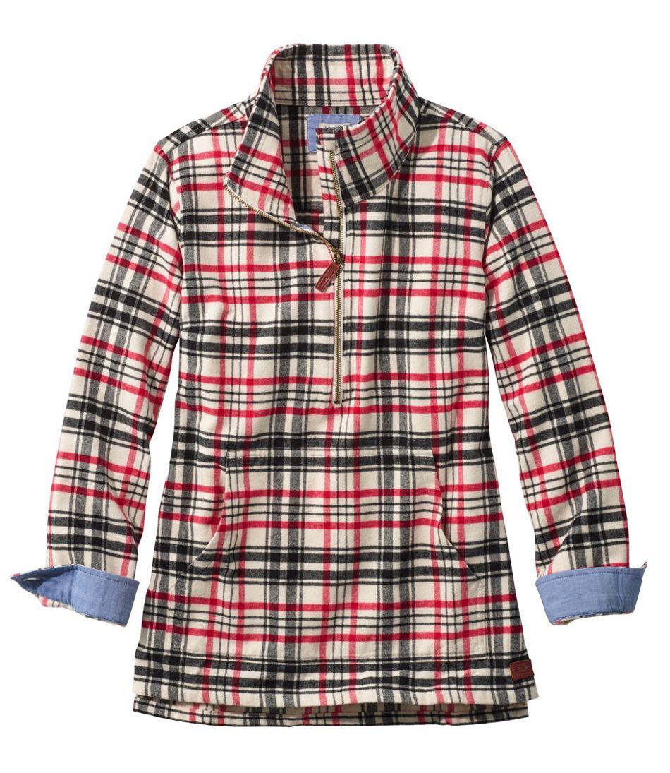 Heritage Chamois Shirt, Zip Pullover Plaid