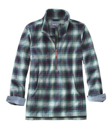 Women's Heritage Chamois Shirt, Zip Pullover Plaid