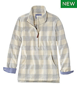 Heritage Chamois Shirt, Zip Pullover Plaid