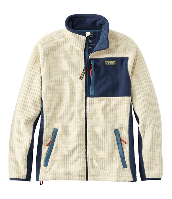 Mountain Classic Windproof Fleece Jacket, Natural/Nautical Navy, large image number 0