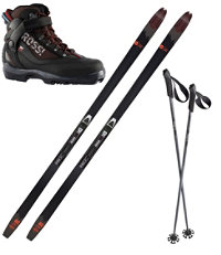 Rossignol BC 80 Mounted Ski Set with BC X5 Boots