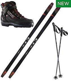 Adults' Rossignol BC 80 Mounted Ski Set with BC X5 Boots