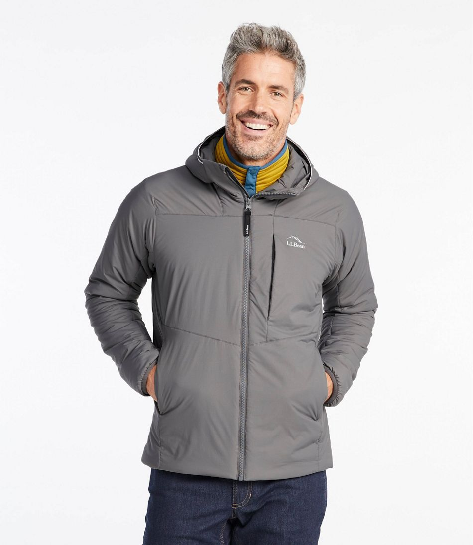 Men's Stretch Primaloft Packaway Hooded Jacket
