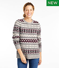 Bean's Classic Ragg Wool Sweater, Crewneck Vintage Fair Isle