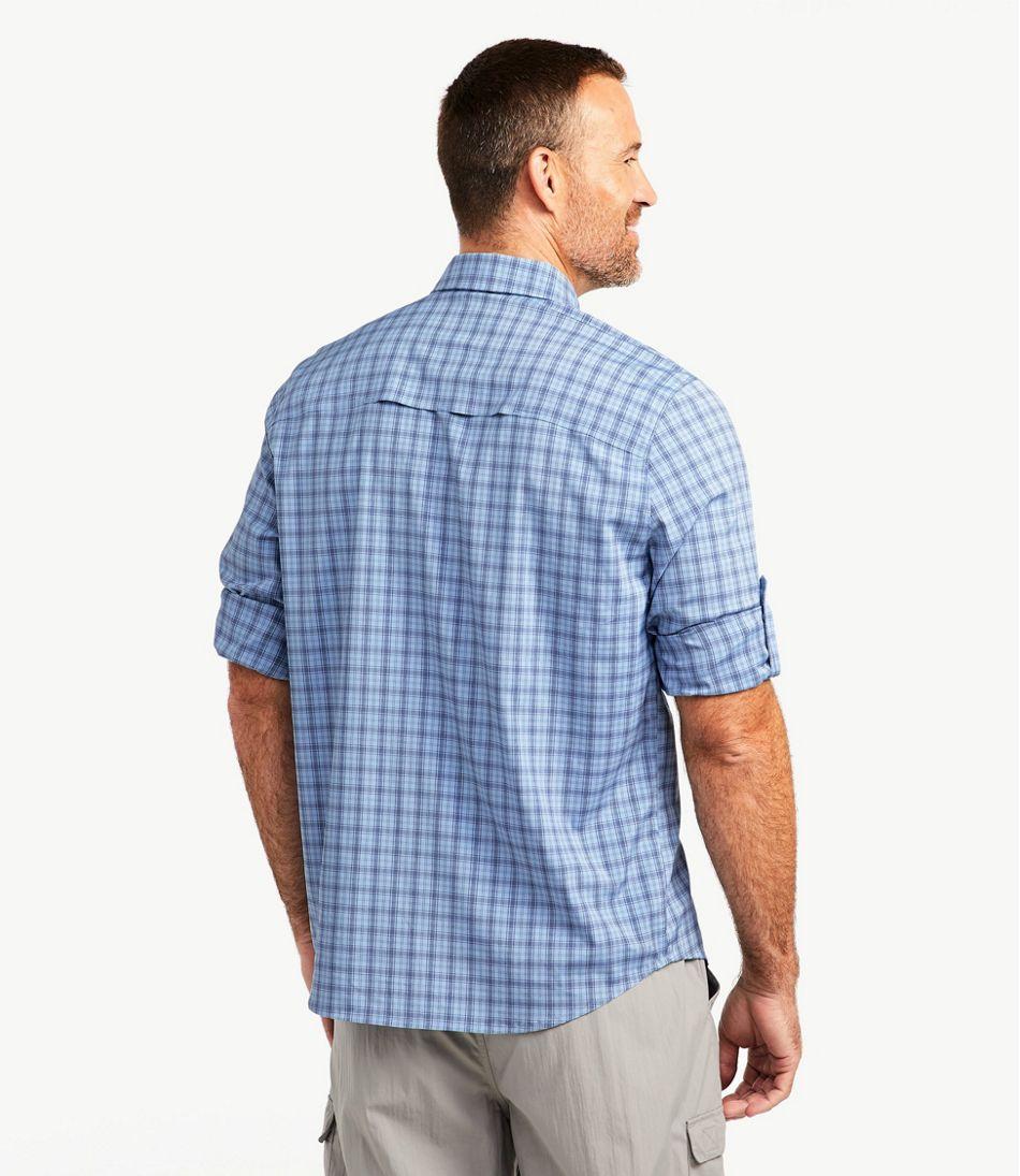 Men's Tropicwear Pro Stretch Shirt, Long-Sleeve Plaid