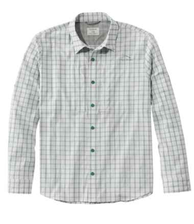 Men's Tropicwear Pro Stretch Shirt, Long-Sleeve Plaid