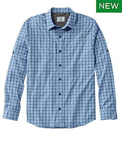 Men's Tropicwear Pro Stretch Shirt, Long-Sleeve Plaid Tall