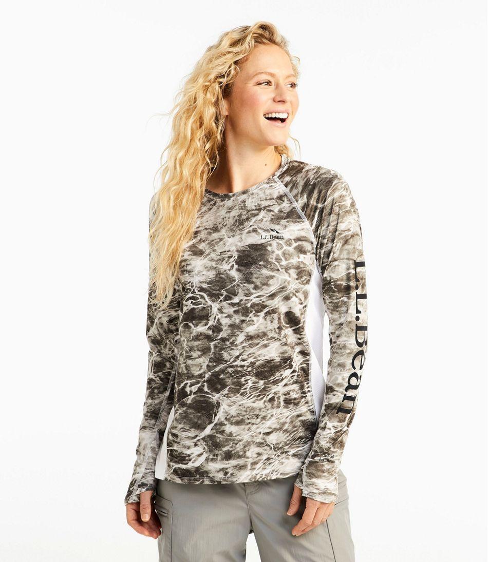 Women's Tropicwear Knit Crew Shirt, Long-Sleeve Print