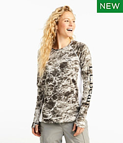 Women's Tropicwear Knit Crew Shirt, Long-Sleeve Print