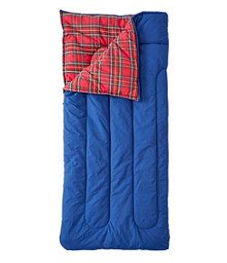 Kids' L.L.Bean Flannel Lined Camp Sleeping Bag, 40°
