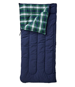 Adults' L.L.Bean Flannel Lined Camp Sleeping Bag, 40°