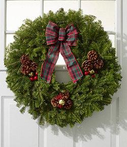 "Christmas Golden Bells Wreath, 24"""