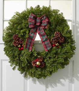 Christmas Golden Bells Wreath, 24""