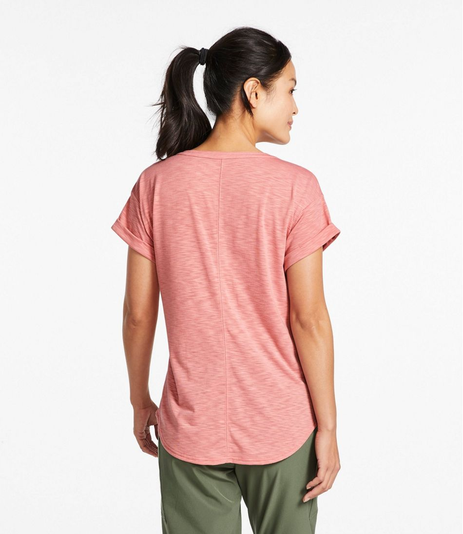 Women's Streamside Tee, Short-Sleeve Splitneck