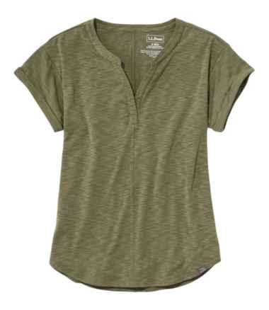 Streamside Tee, Short-Sleeve Splitneck
