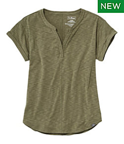 Women's Streamside Tee, Short-Sleeve Splitneck