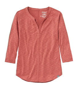 Women's Streamside Tee, Three-Quarter-Sleeve Splitneck