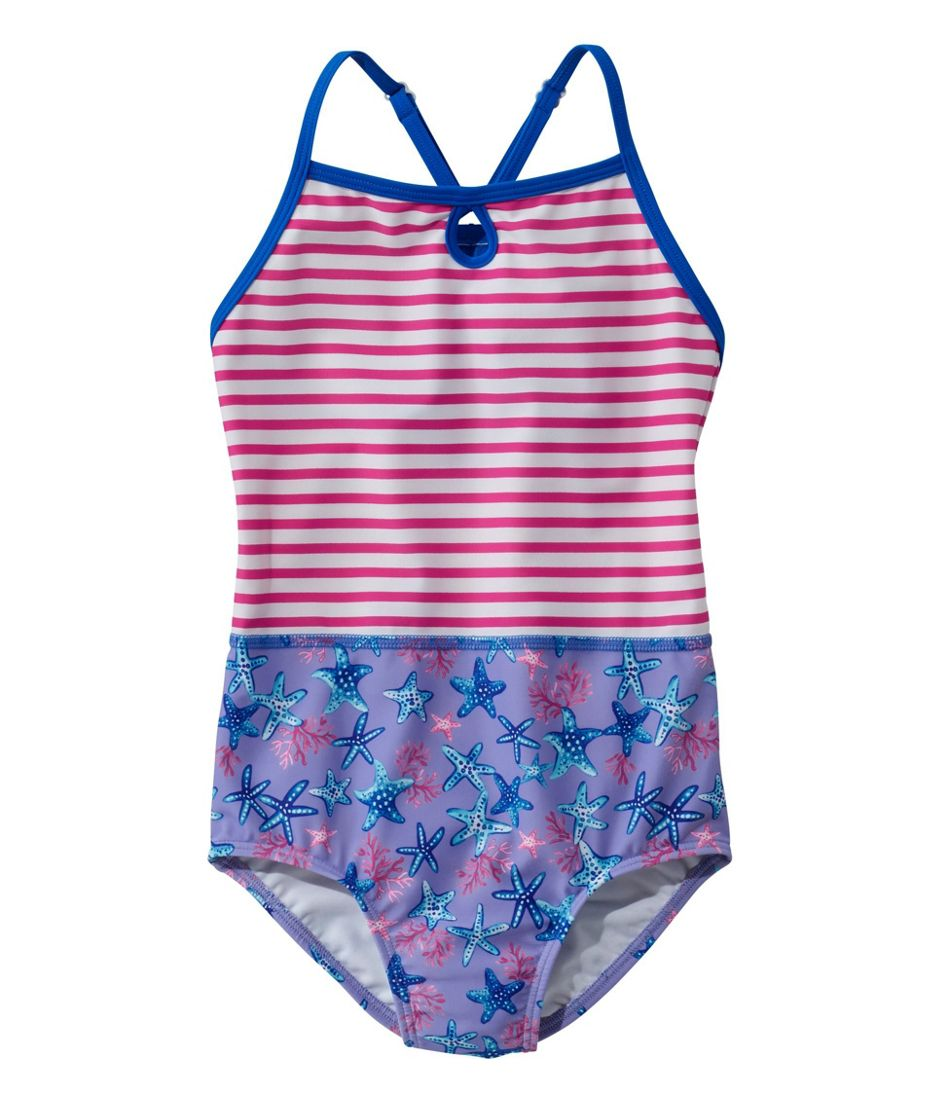 Girls' BeanSport Swimsuit, One-Piece, Print