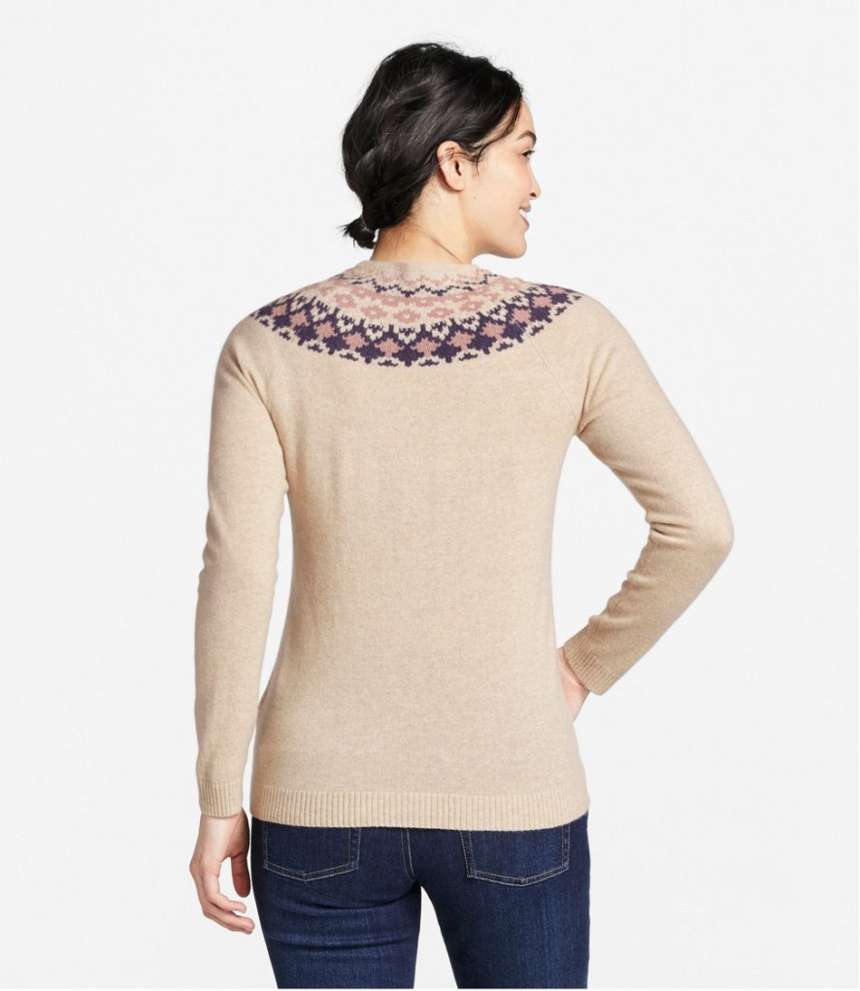 Classic Cashmere Sweater, Crewneck Fair Isle
