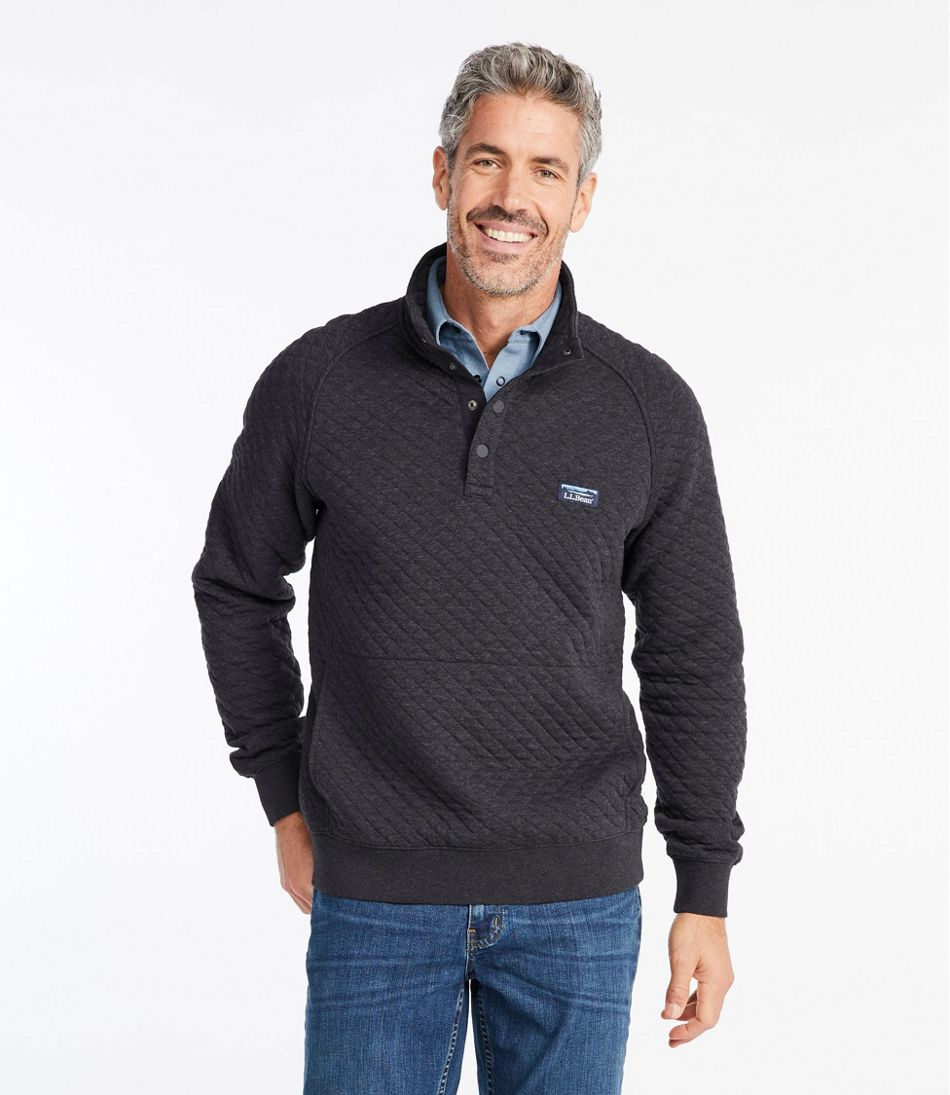 Men's Quilted Sweatshirt, Mockneck