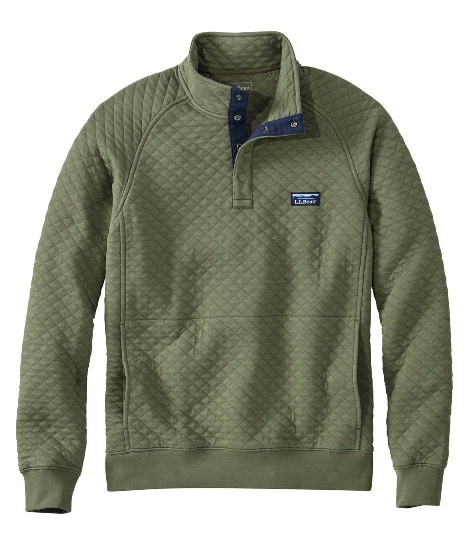 Men's Quilted Sweatshirt, Mockneck