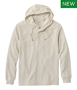 Unshrinkable Mini-Waffle Henley, Hoodie, Traditional Fit