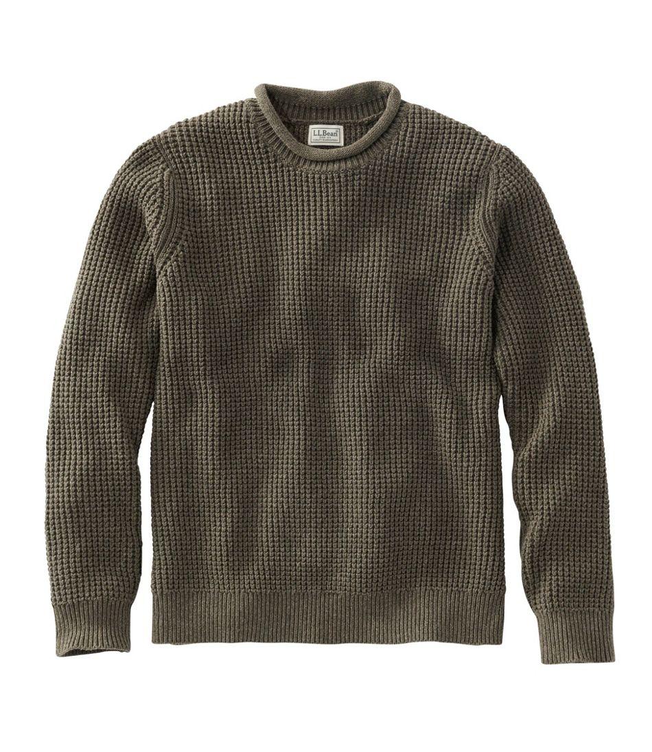 Organic Cotton Sweater, Rollneck Crew