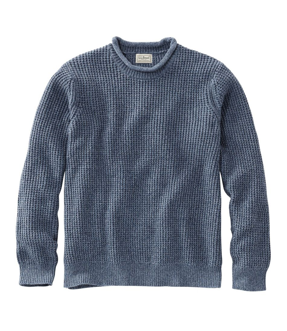 Men's L.L.Bean Organic Cotton Rollneck Crew Sweater
