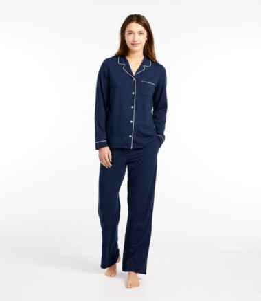 Women's Super-Soft Shrink-Free Pajama Set, Button-Front