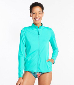 Women's Saltwater Essentials Swimwear, Full-Zip Rash Guard