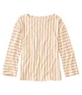 Women's Signature Organic Cotton/Hemp-Blend Top, Long-Sleeve Stripe