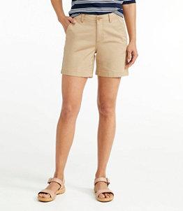 "Women's Lakewashed Chino Shorts, 6"""