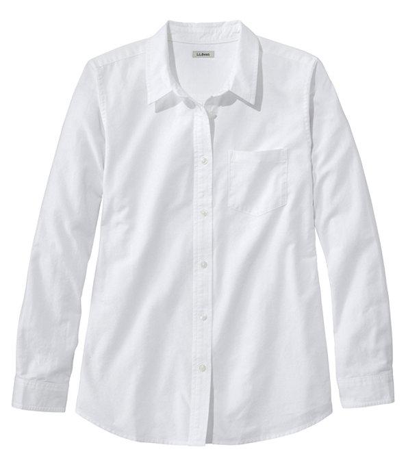 Women's Lakewashed Organic Cotton Oxford Shirt, , large image number 0
