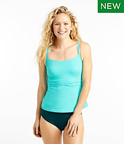 Women's Saltwater Essentials Swimwear, Scoopneck Tankini Top