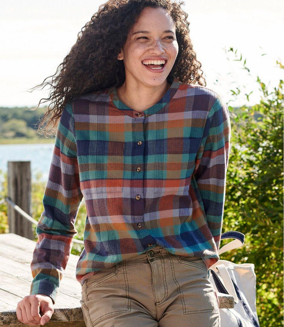 Women's Organic Herringbone Flannel Shirt