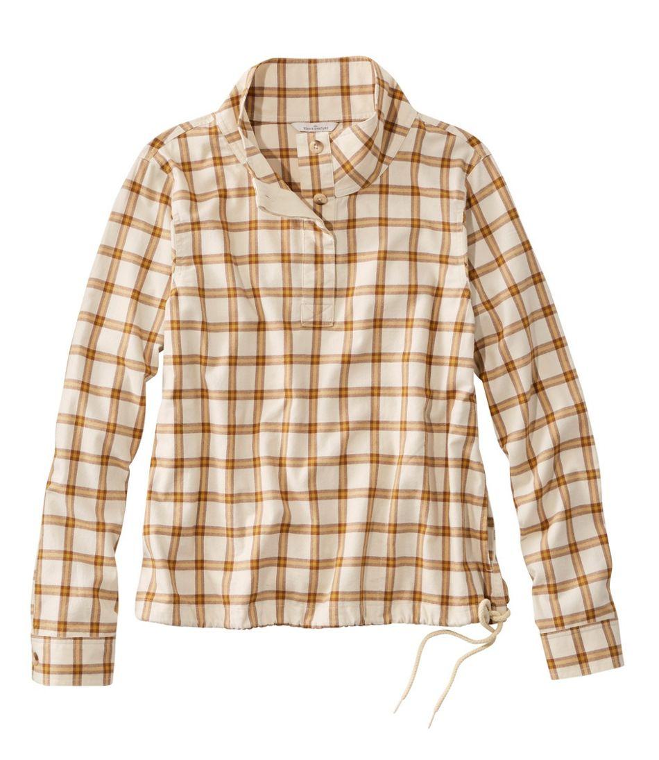 Women's Signature Brushed Cotton Mockneck Shirt, Pattern