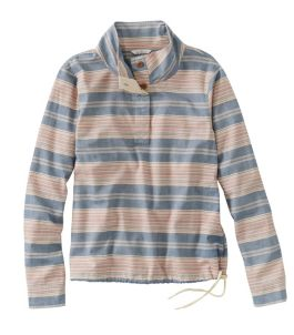 Women's Signature Brushed Cotton Mockneck Shirt, Pattern