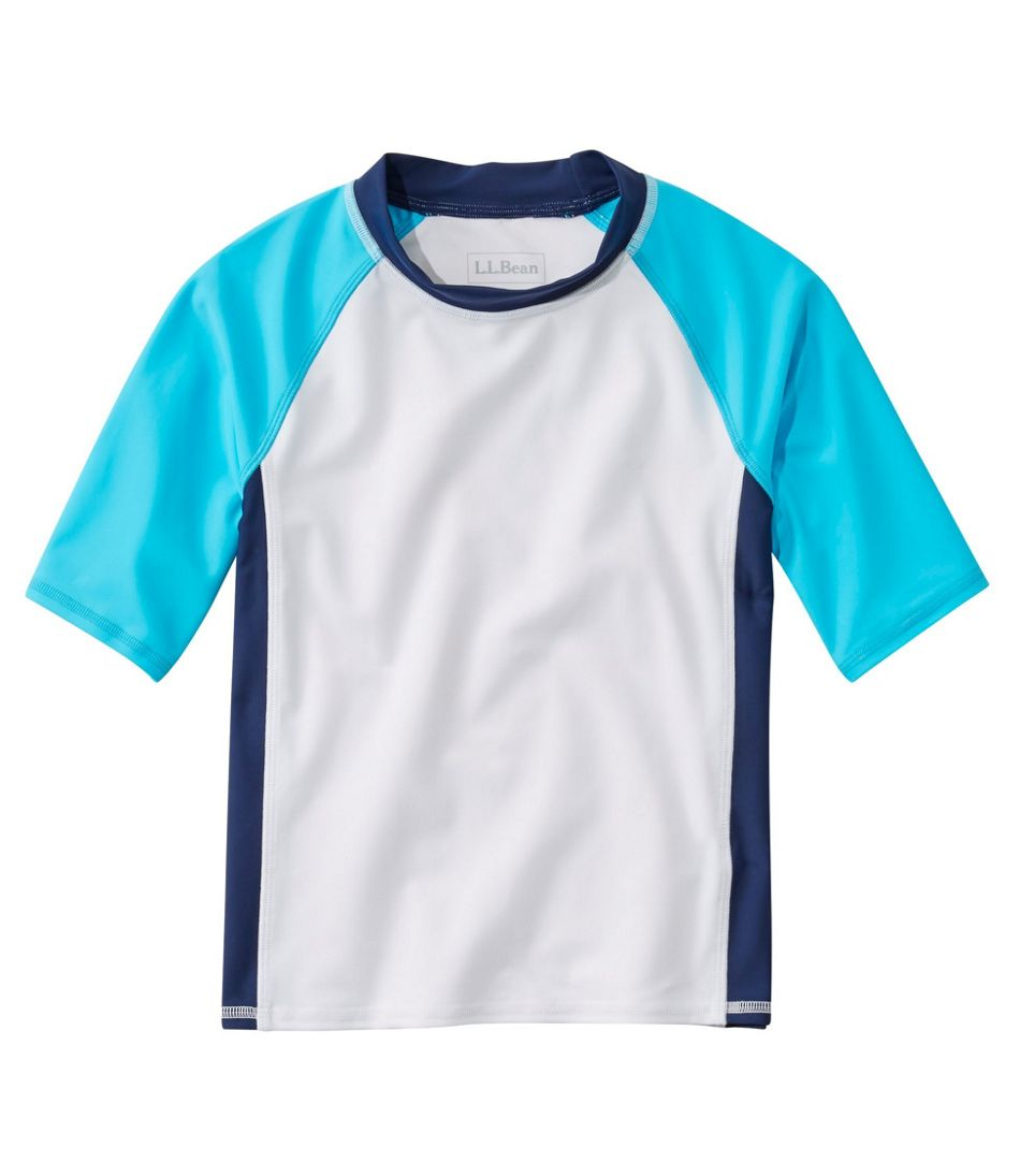 Kids' Sun-and-Surf Shirt, Short-Sleeve Colorblock