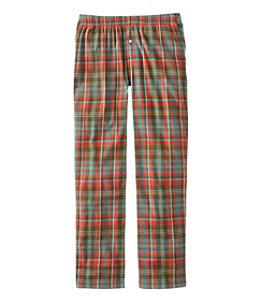 Men's Rangeley Organic Stretch Flannel Sleep Pants, Plaid
