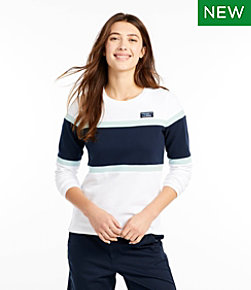 Soft Cotton Rugby, Crewneck Colorblock